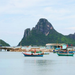 A small fishing village on the Southern Coast of Thailand - Prachuap Kkiri Khan Sept 2011