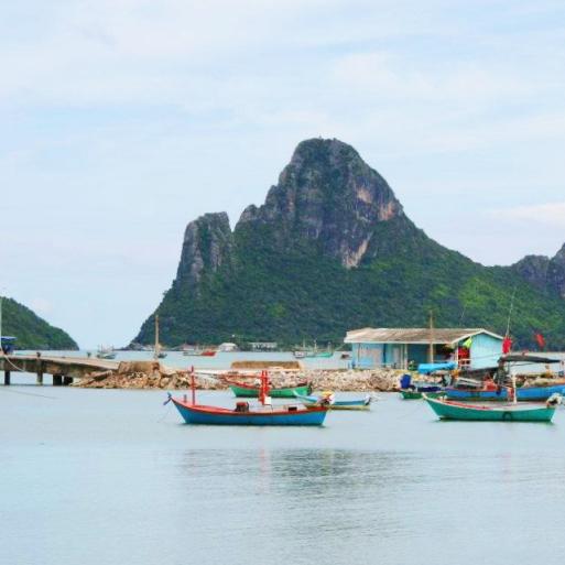 A small fishing village on the Southern Coast of Thailand - Prachuap Kkiri Khan Sept 2011