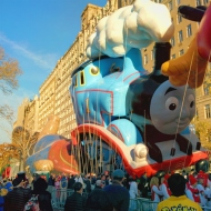 Raising the balloons at the Macy's Thanksgiving Day Parade 2015 (81st St. NYC)