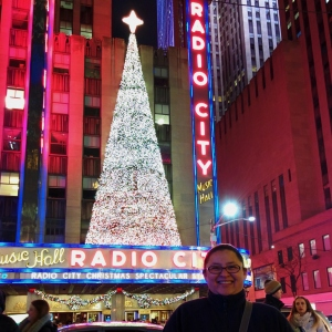 My sister in right before the show - Radio City Music Hall, NYC, NY